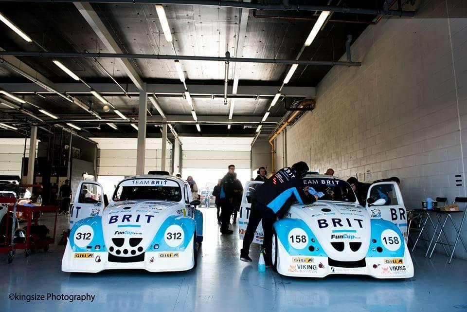 Both cars in garage